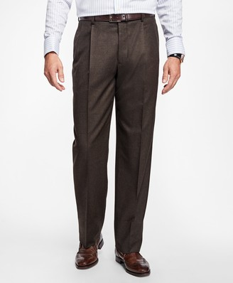 Brooks Brothers Madison Fit Pleat-Front Stretch Flannel Trousers