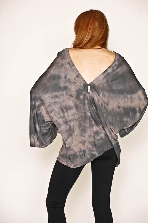 Gypsy 05 Silk Jersey V-Neck in Black