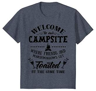 Funny Camping Shirt Welcome To Campsite Friends Get Toasted