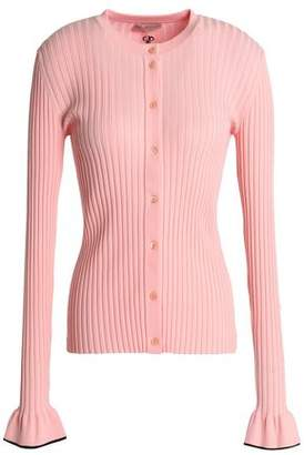 Emilio Pucci Fluted Ribbed-Knit Cardigan