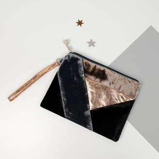 Home & Glory Geometric Velvet Clutch