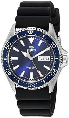 Orient Men's Kamasu Stainless Steel Japanese Automatic Diving Watch with Silicone Strap
