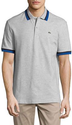 Lacoste Short Sleeve Stripe Cotton Polo
