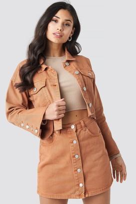 Glamorous Denim Mini Skirt Orange Rust
