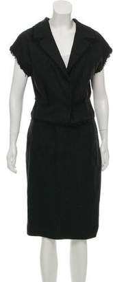 Giambattista Valli Fringe-Trimmed Tweed Skirt Suit