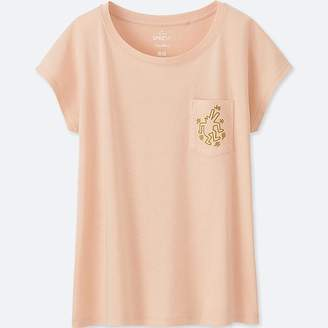Uniqlo Women's Sprz Ny Short-sleeve Graphic T-Shirt (keith Haring)