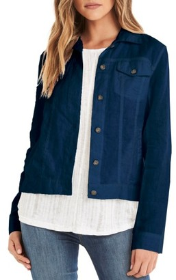 Women's Michael Stars Linen Denim Jacket $188 thestylecure.com