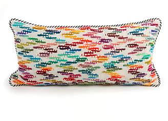 Mackenzie Childs MacKenzie-Childs Zigzag Lumbar Pillow