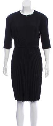 Andrew Gn Accordion Pleat Knee-Length Dress