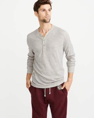 Abercrombie & Fitch Textured Long-Sleeve Henley