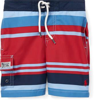 Trunks Ralph Lauren Childrenswear Kailua Striped Swim Trunks, Size 2-4