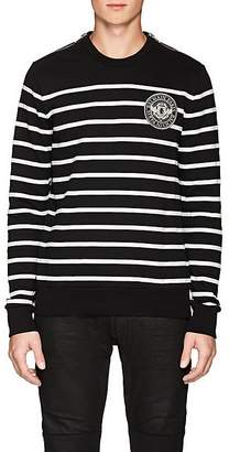 Balmain Men's Striped Cotton Terry Sweatshirt