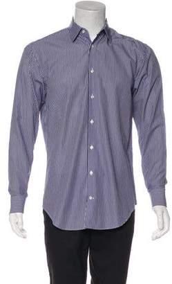 Armani Collezioni Striped Point Collar Shirt