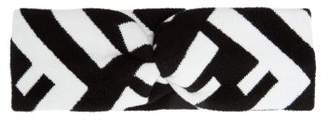 Fendi Logo Intarsia Knit Headband - Womens - Black