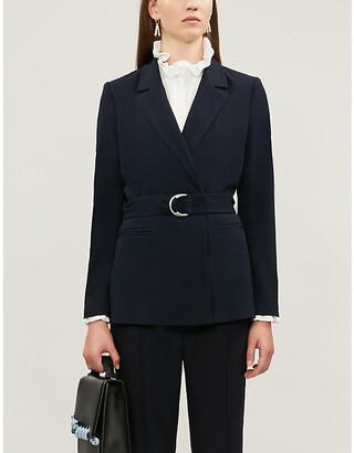 Claudie Pierlot Buckled regular-fit crepe blazer