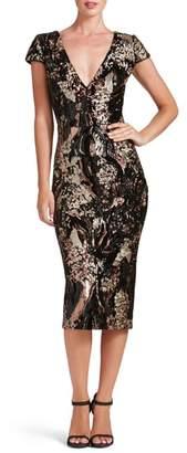 Dress the Population Allison Sequin Velvet Body-Con Dress