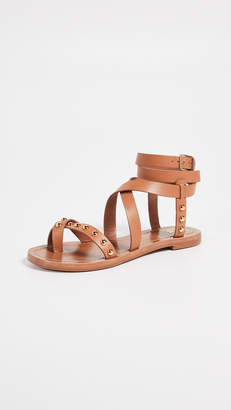 Tory Burch Ravello Studded Ankle Wrap Sandals