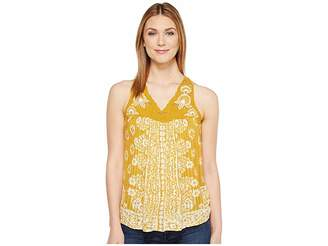 Lucky Brand Floral Lace Yoke Tank Top Women's Sleeveless