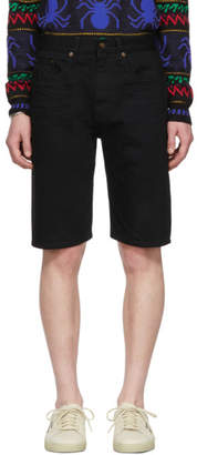 Saint Laurent Black Denim Bermuda Shorts