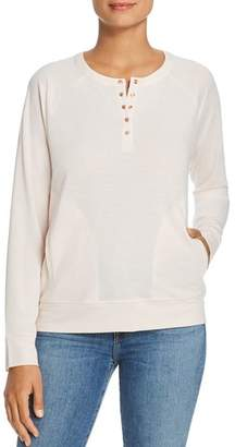 Kenneth Cole Snap Henley Pullover