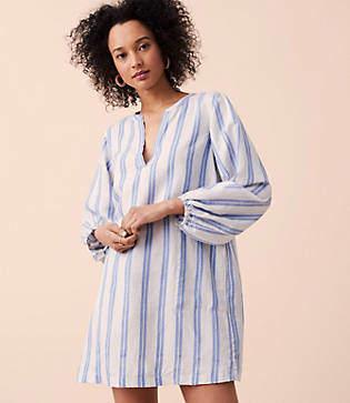 Lou & Grey Striped Poet Pop On Shirtdress