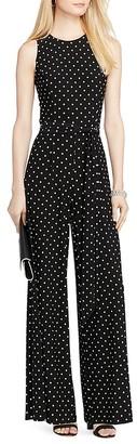 Lauren Ralph Lauren Polka Dot Wide Leg Jumpsuit $139 thestylecure.com