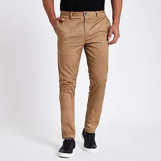 River Island Mens Tan slim fit chino trousers