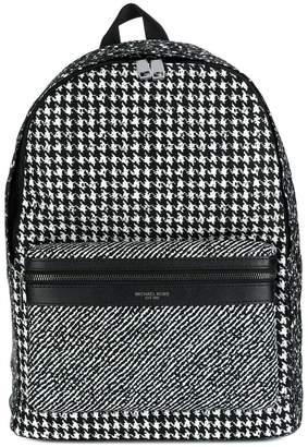 Michael Kors houndstooth print backpack