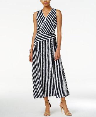 Armani Exchange Striped Maxi Dress $180 thestylecure.com