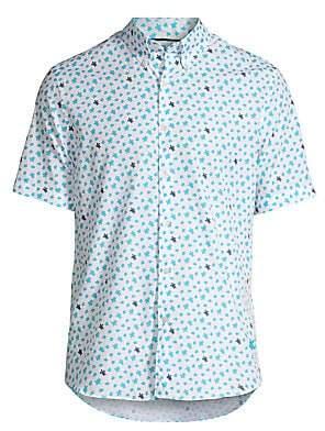 Vilebrequin Men's Micro Turtle Print Shirt