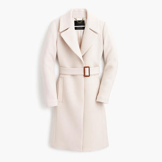 Petite double-cloth belted trench coat $425 thestylecure.com