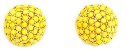 Charlotte Russe Vibrant Gemstone Dome Earrings