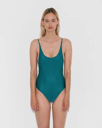 Haight Blue Topaz Thin Strap Maillot