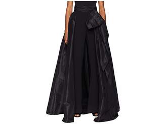Marchesa Detachable Pleated Taffeta Over Skirt w/ Large Bow