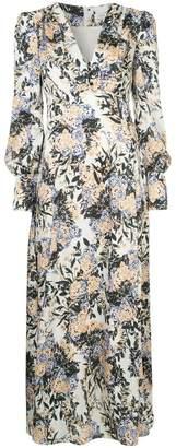 Goen.J puff shoulder floral dress