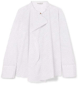 Lemaire Pinstriped Cotton-poplin Blouse - White