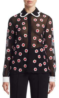 Alice + Olivia Willa Embellished Blouse