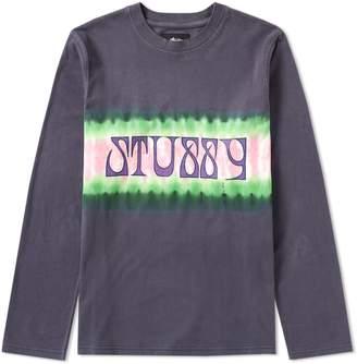Stussy Long Sleeve Tie Dye Stripe Jersey Tee