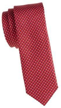 HUGO BOSS Wool & Silk Dotted Tie