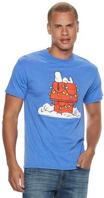 Men's Peanuts Snoopy Christmas Lights Tee
