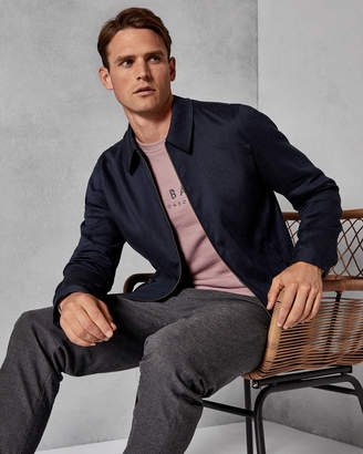 Ted Baker PHILY Linen Harrington jacket