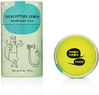 Meow Meow Tweet Deodorant Stick - Eucalyptus Lemon by 3oz Deo Stick)