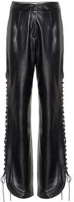 Matériel Tbilisi High-rise faux leather pants