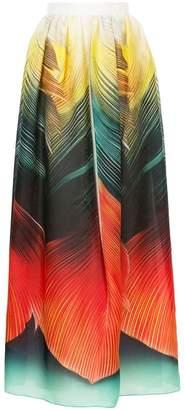 Mary Katrantzou flight feathers maxi skirt