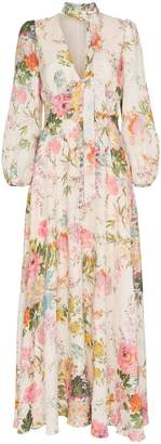 Zimmermann Heather garden floral print maxi dress