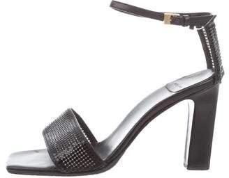 Celine Studded Ankle Strap Sandals