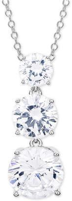 "Giani Bernini Cubic Zirconia Graduated 18"" Pendant Necklace in Sterling Silver"