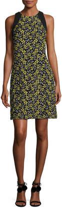 Carmen Marc Valvo Sleeveless Daisy Cocktail Dress, Yellow/Multicolor