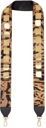 MCM Stark Leopard Bag Strap