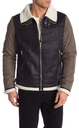 Slate & Stone Faux Fur Buckled Jacket